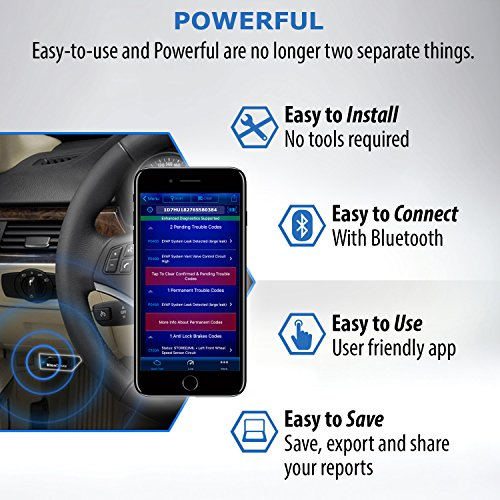 Easy to install bluetooth obd2 scanner