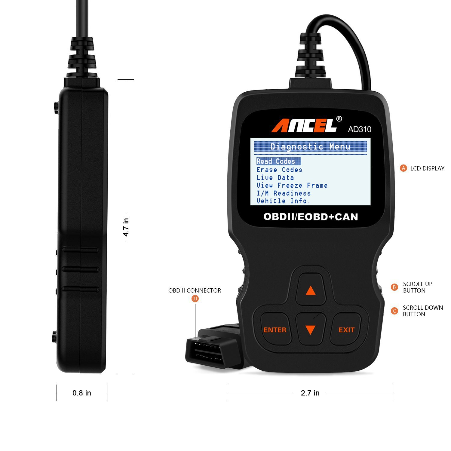 Ancel AD310 obd2 scanner diagnostic scanner
